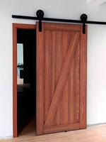 Loft style slide door