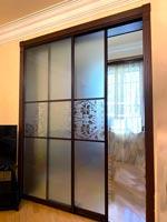 Multifunctional glass slide door